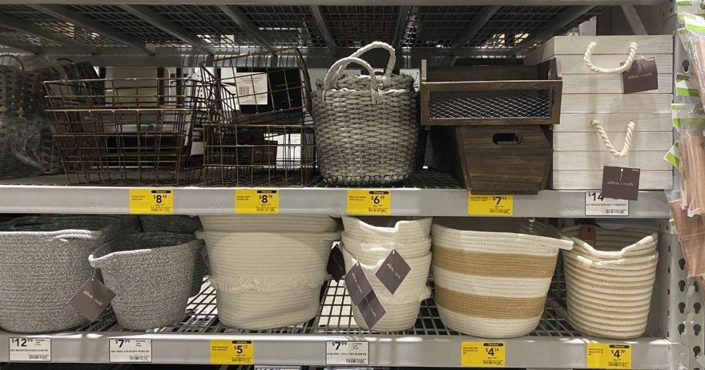 RGI Home Baskets Bins on shelf