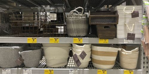 Clearance Baskets & Bins from $4.54 at Lowe's (Regularly $13+)