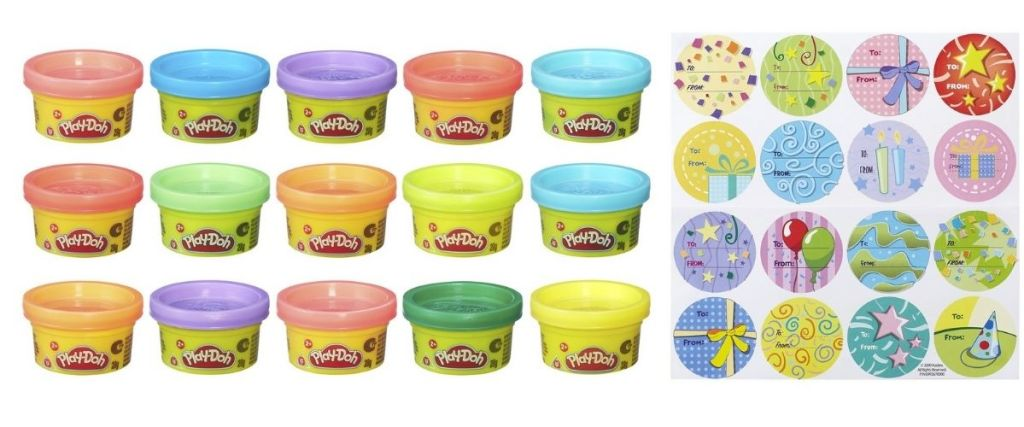 MIni Play-Doh Tubs with gift cards