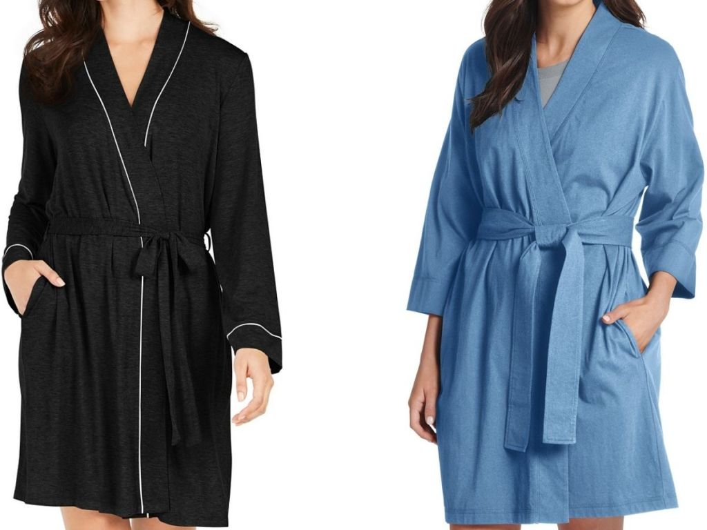 Two women's short robes
