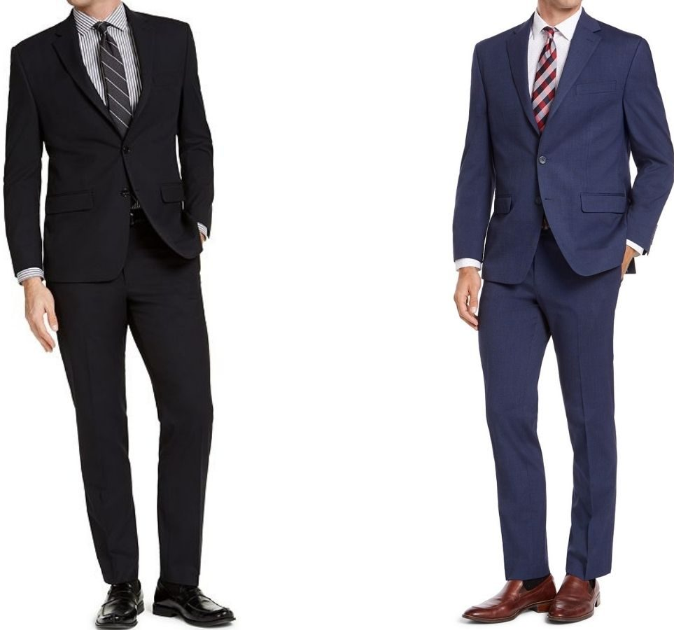 two men wearing suits
