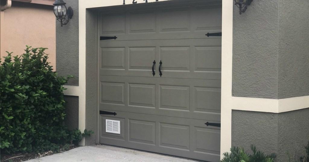 Magnetic Garage Accents on single door