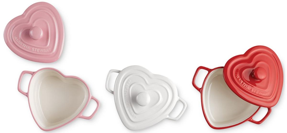 Martha Stewart brand heart-shaped cocettes