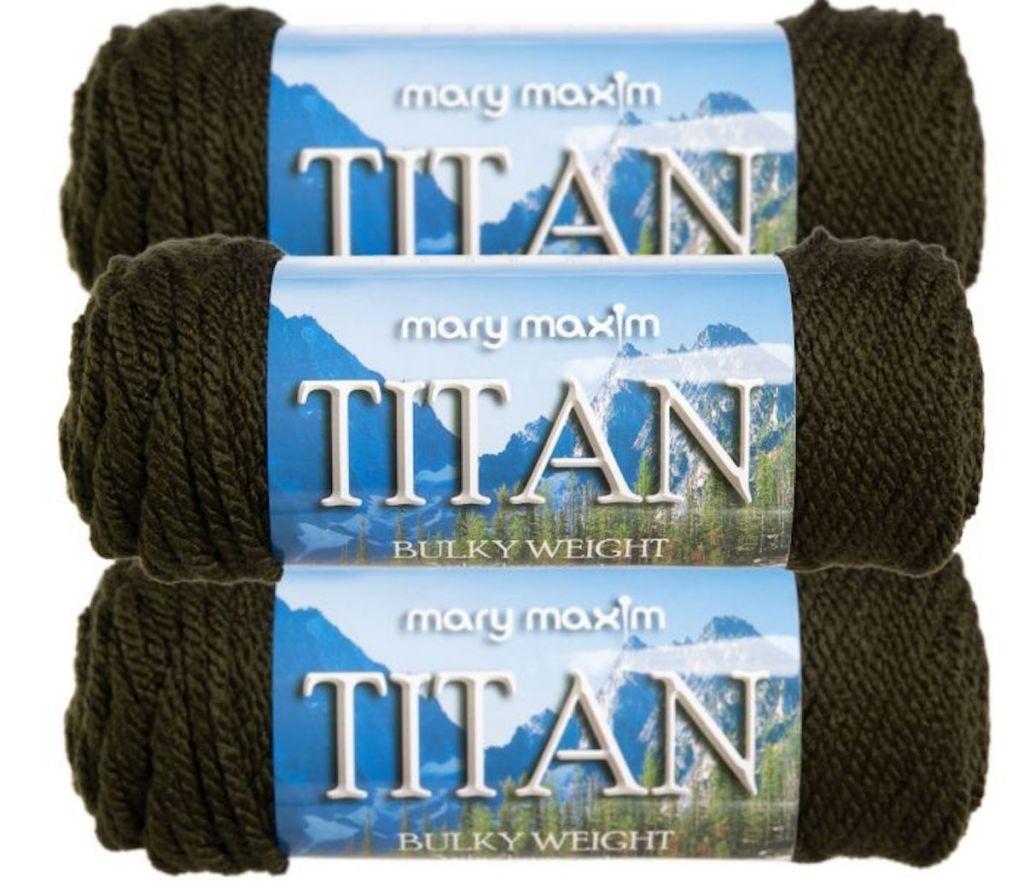 3 bundles of mary maxim yarn