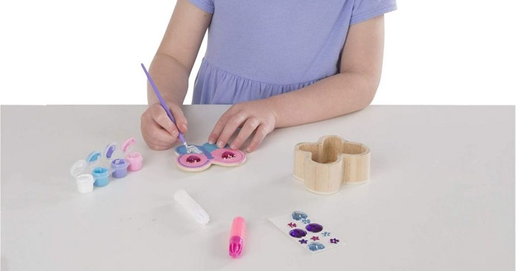 Melissa & Doug Butterfly Box Kit being created