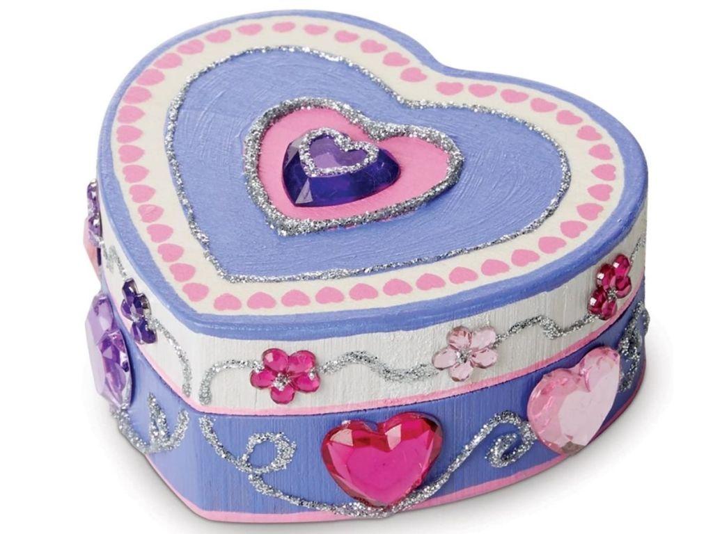 Melissa & Doug Heart Box Kit finished project