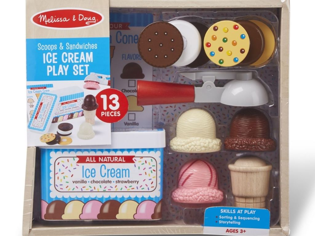 Melissa & Doug Scoops & Sandwiches Play Set in packaging