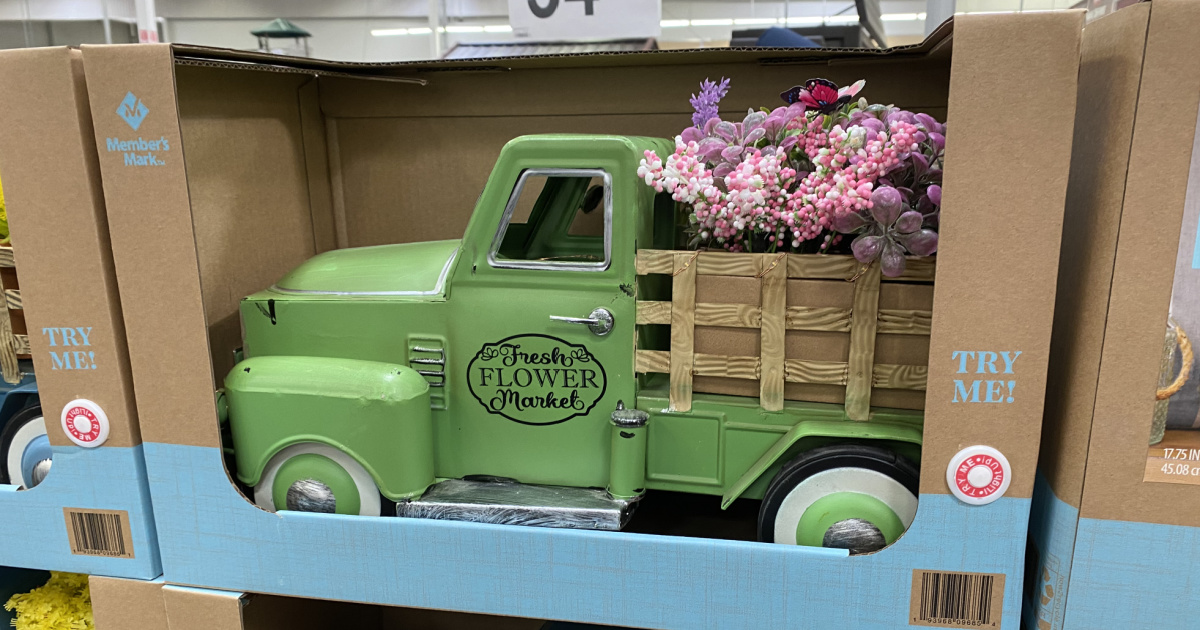 vintage style Spring truck in package on display