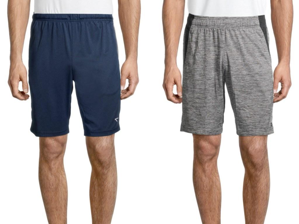 2 men wearing athletic shorts