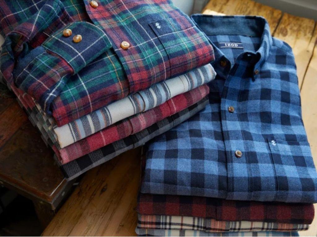 Folded men's Flannel Shirts