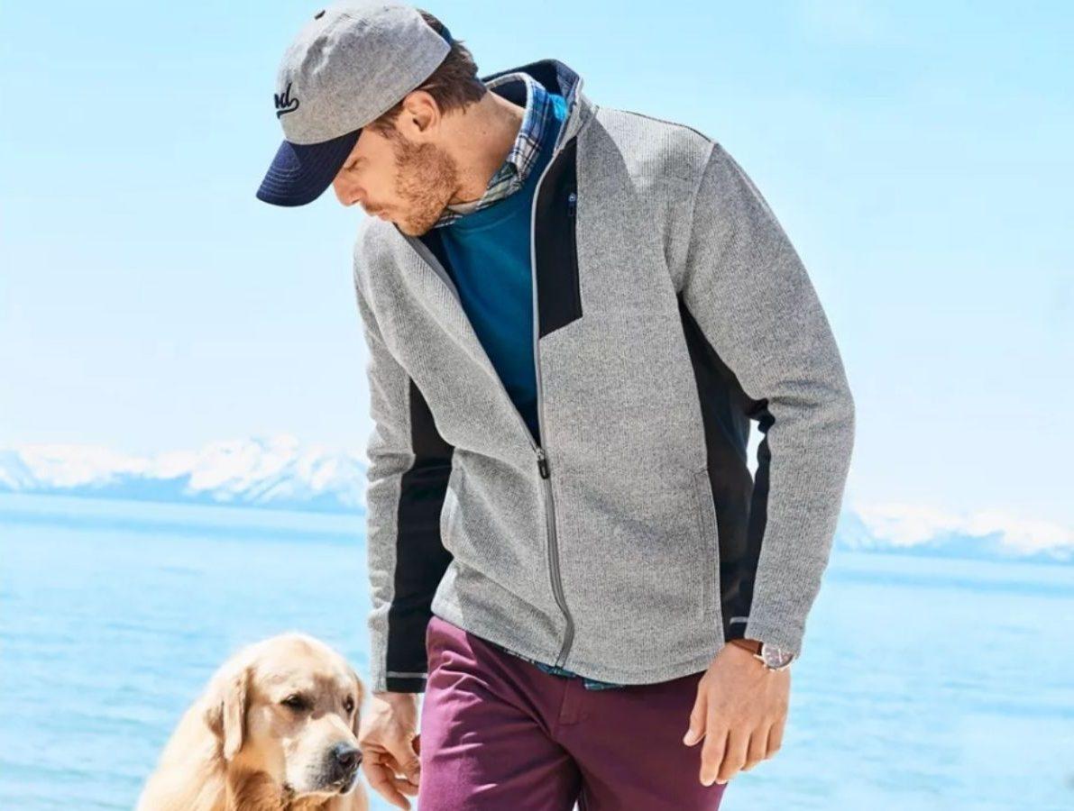 Izod Men's Fleece Lightweight Jacket