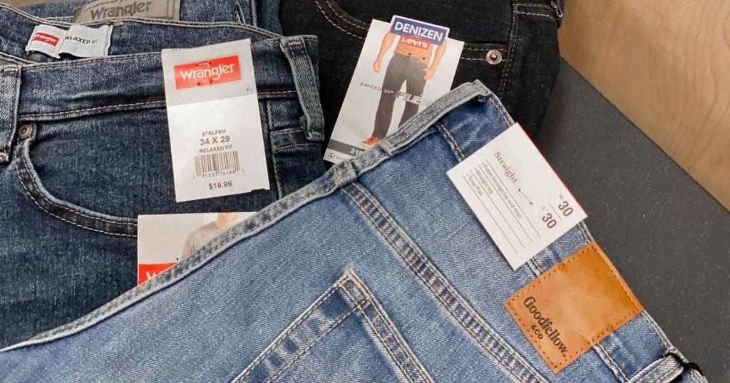 stacked Men's Jeans Target Denizen Wrangler Goodfellow & Co