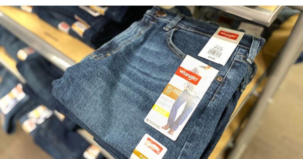 folded Men's Jeans Target Wrangler