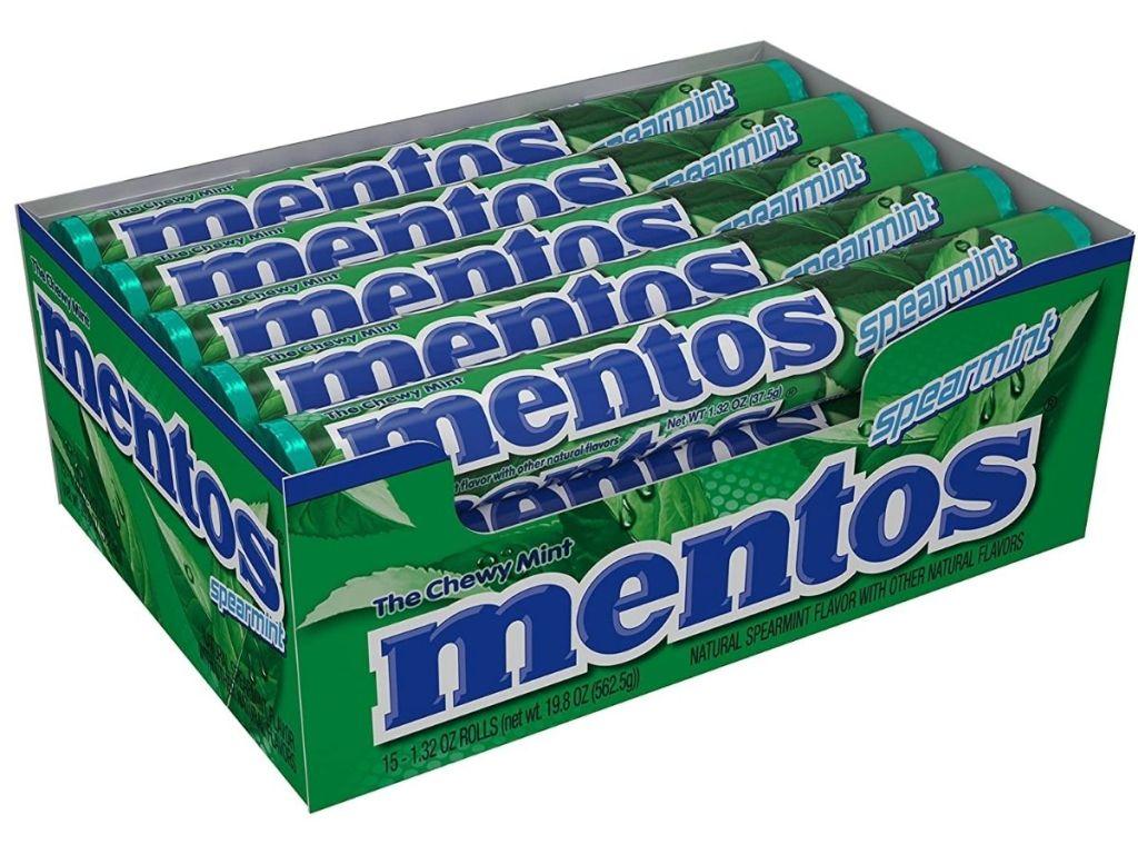 box of Mentos Spearmint