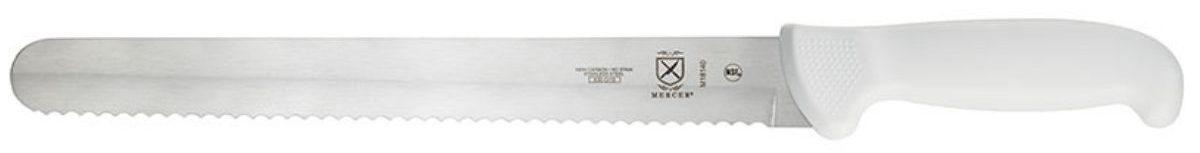 """full length pic of Mercer 11"""" Ultimate White Wavy Edge Slicer"""
