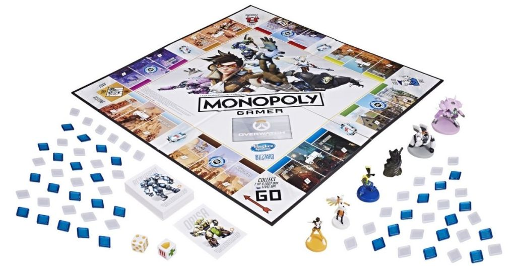 Monopoly Gamer Overwatch Game Board with game pieces