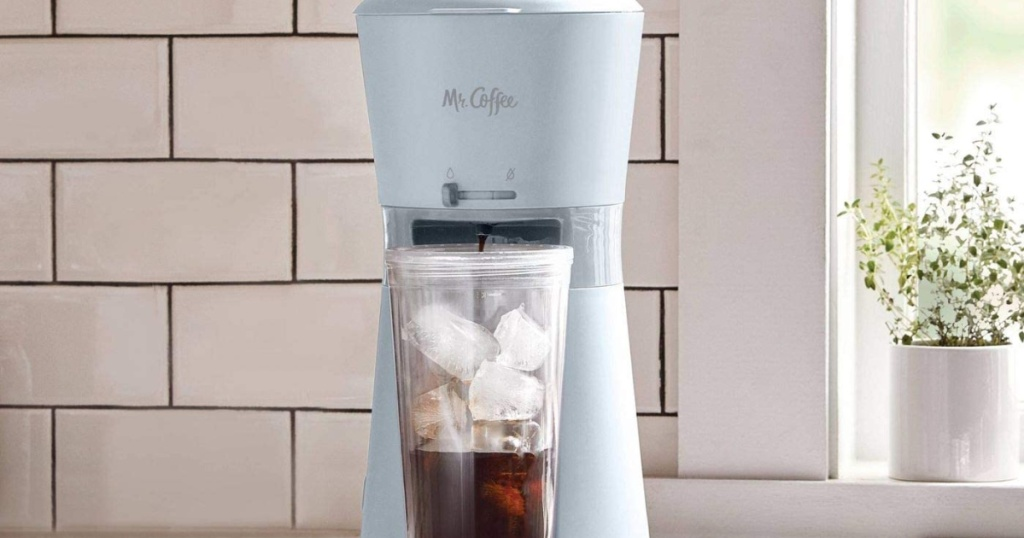 Mr. Coffee Iced Coffee Maker with Reusable Tumbler and Coffee Filter