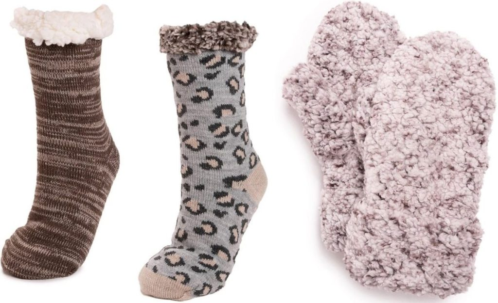 Muk Luks Cabin Socks and Sherpa Socks