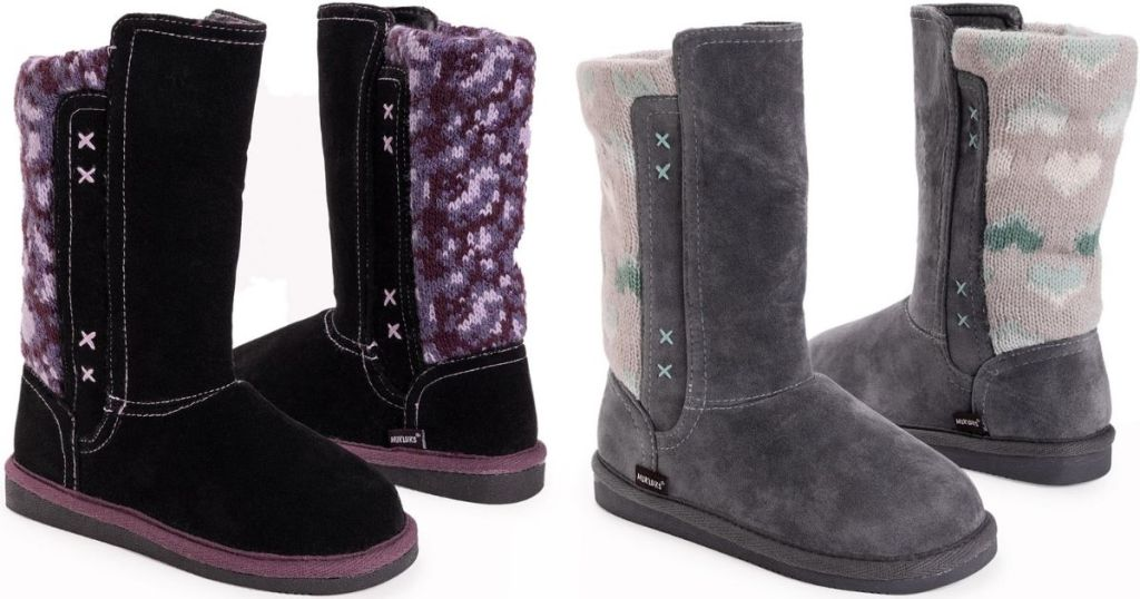 two pairs of kids boots