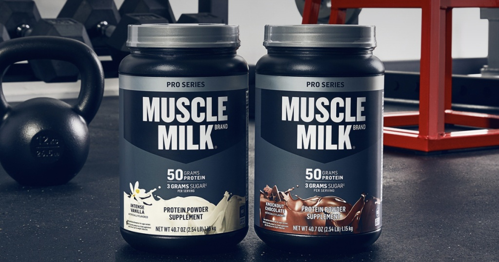 Muscle Milk Pro Series Protein Powder, Knockout Chocolate and Intense Vanilla
