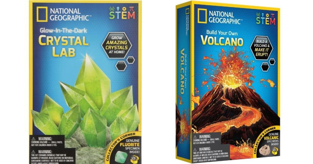 National Geographic Crystal and Volcano Kits