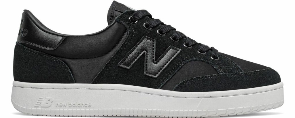 black and white New Balance shoe