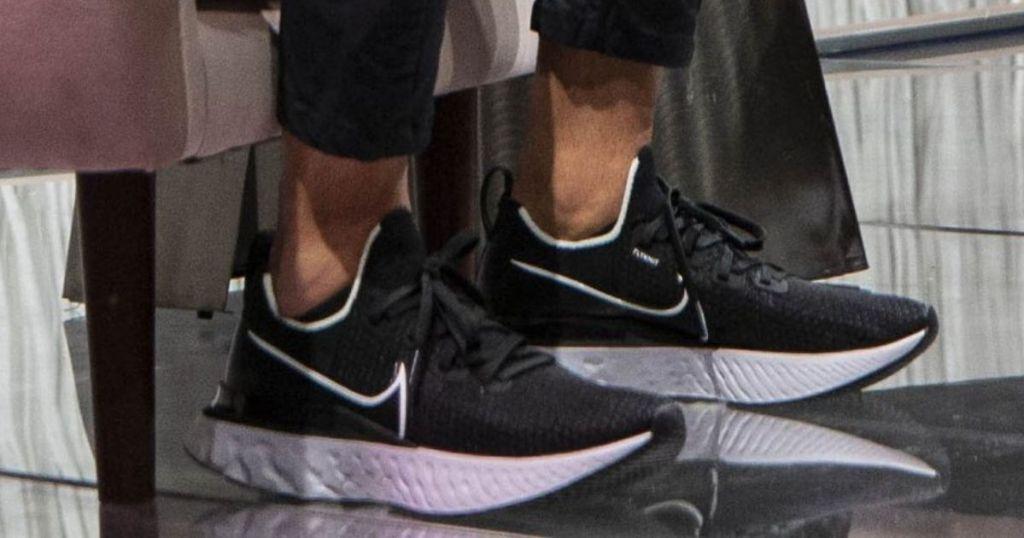 man wearing Nike React Infinity Run Shoes