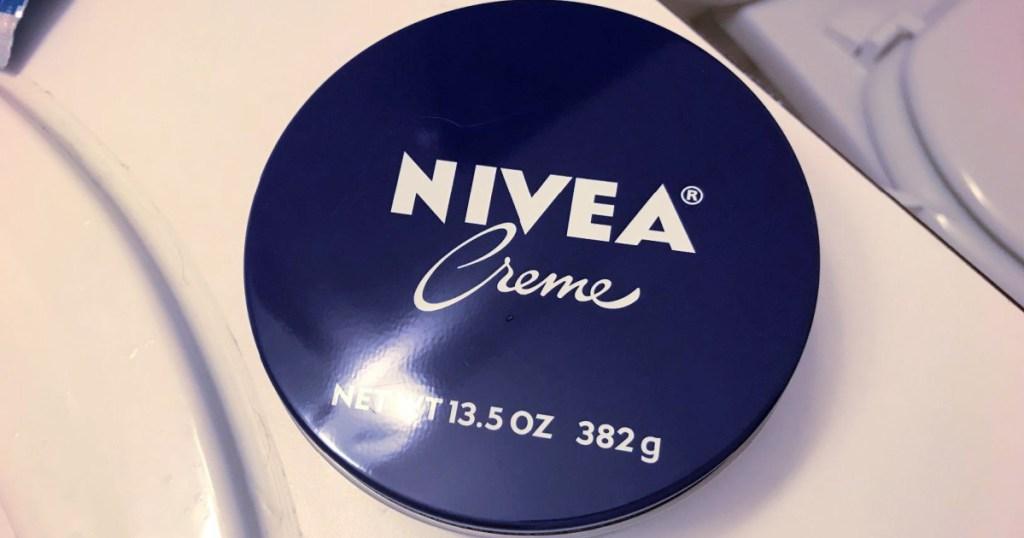 Large jar of Nivea creme