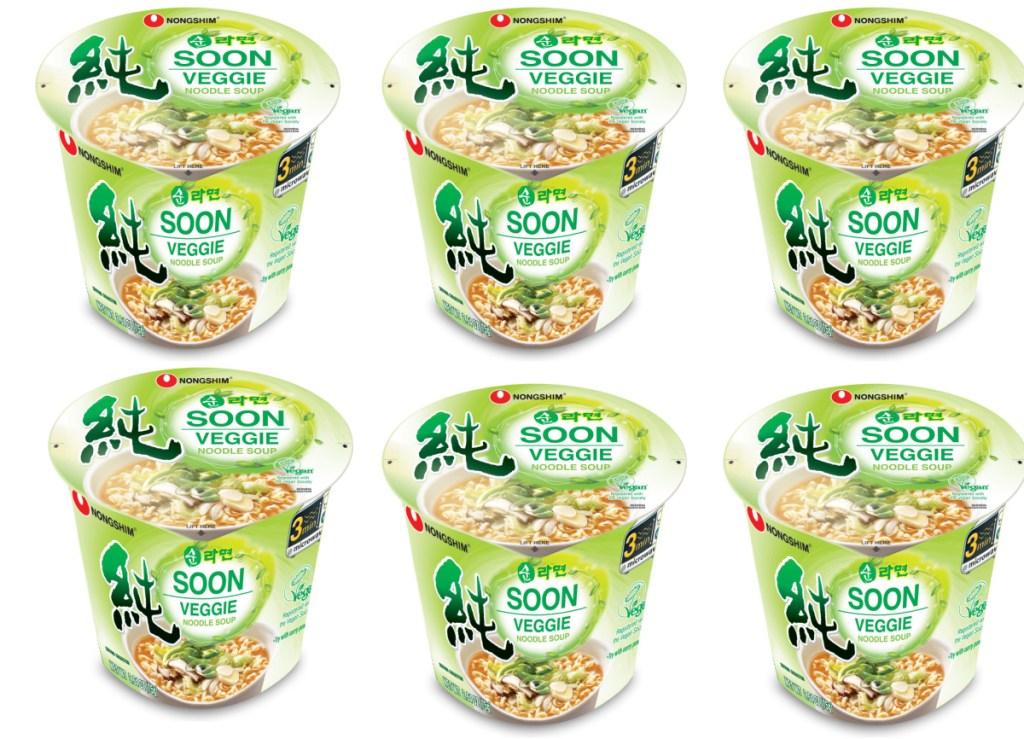 Nongshim Soon Noodle Soup Cup 6-count