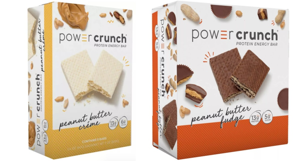 2 Boxes of 2 Power Crunch Energy Bars