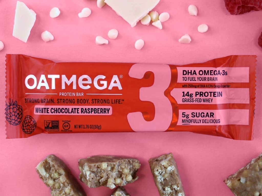 Oatmega Chocolate Raspberry Protein Bars