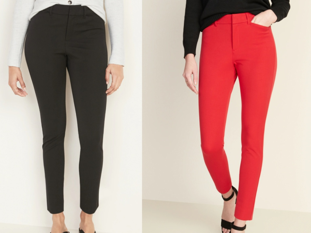 2 women wearing old navy pixie pants