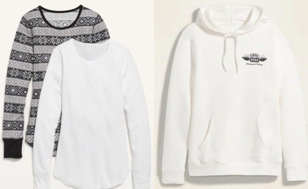 Old Navy womens tees and hoodie