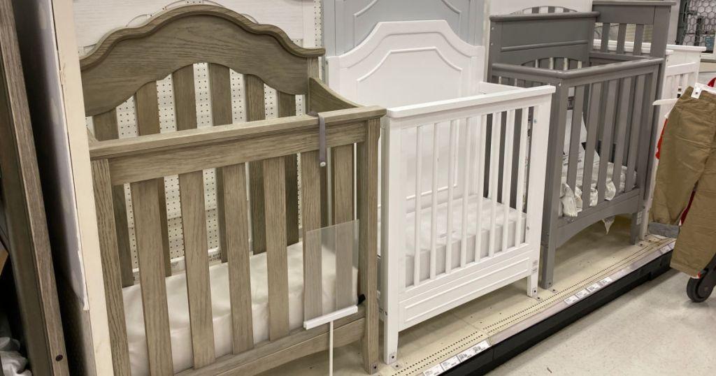 cribs on shelf