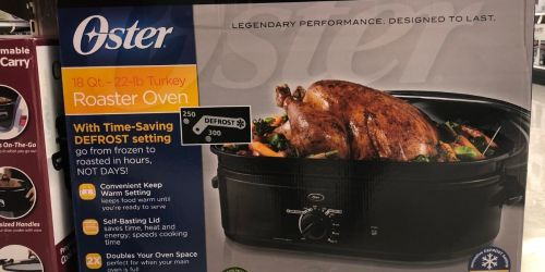 Oster 18-Quart Roaster Oven Only $24.99 on Amazon & Target (Regularly $70)