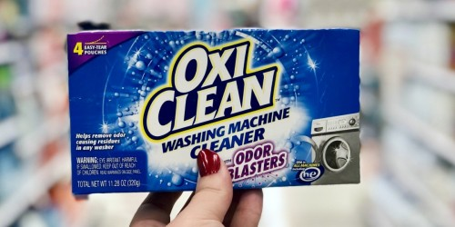 OxiClean Washing Machine Cleaner 4-Pack Just $4.87 Shipped on Amazon (Regularly $8)