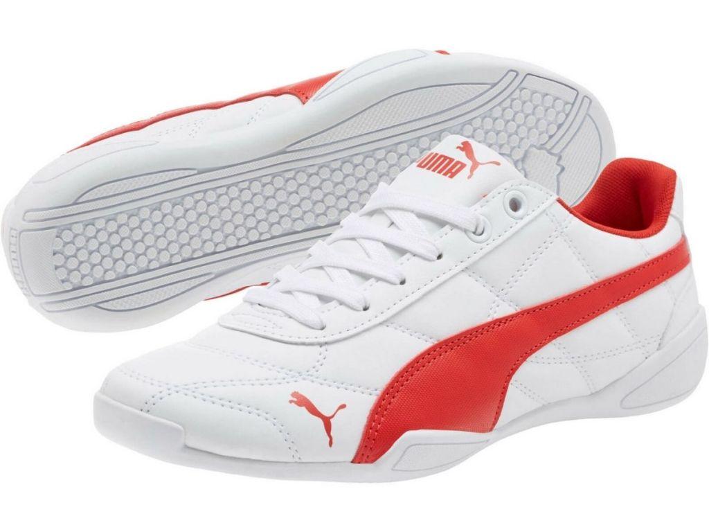 pair of PUMA Junior Tune Cat 3 in white/red