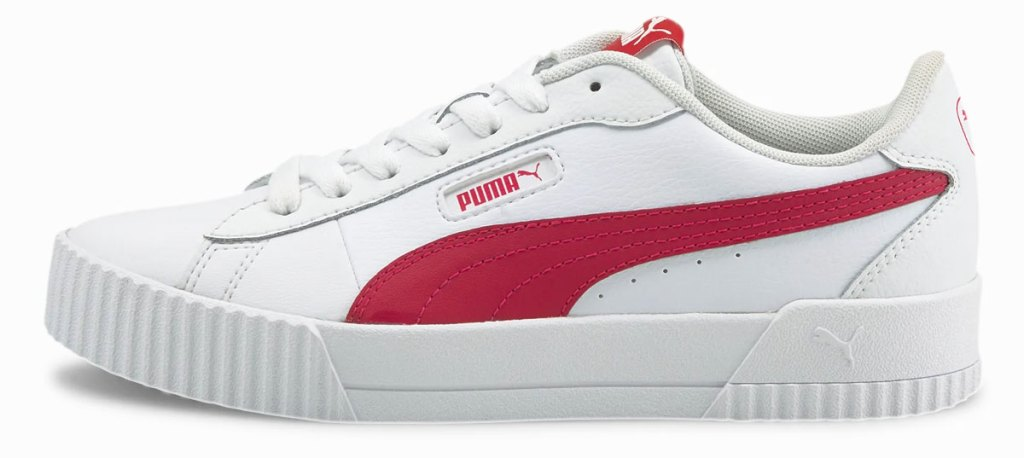 white and pink puma women's sneaker