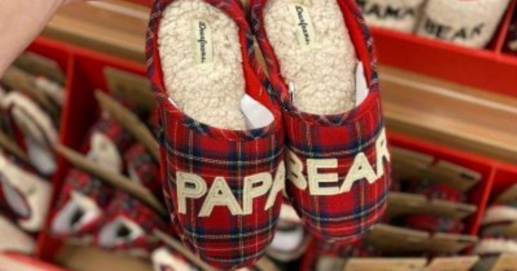 Dearfoams Papa Bear Slippers