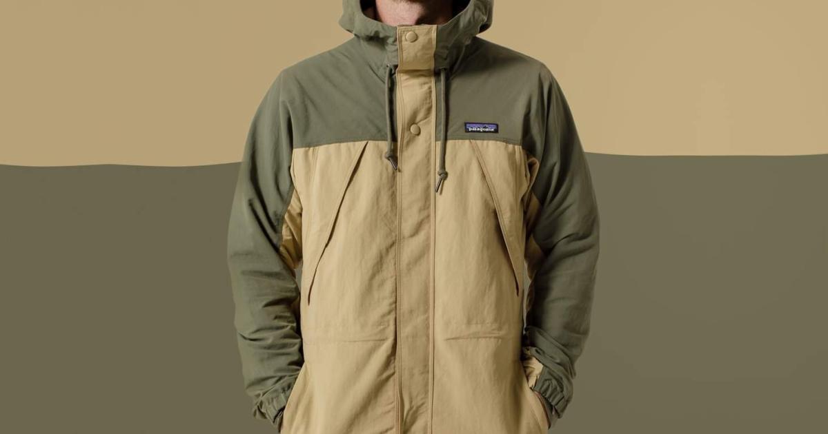 Man wearing a waterproof jacket