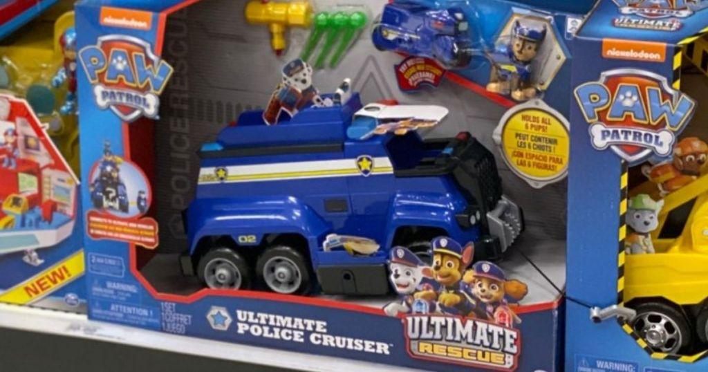 Paw Patrol Ultimate Police Cruiser in packaging on shelf