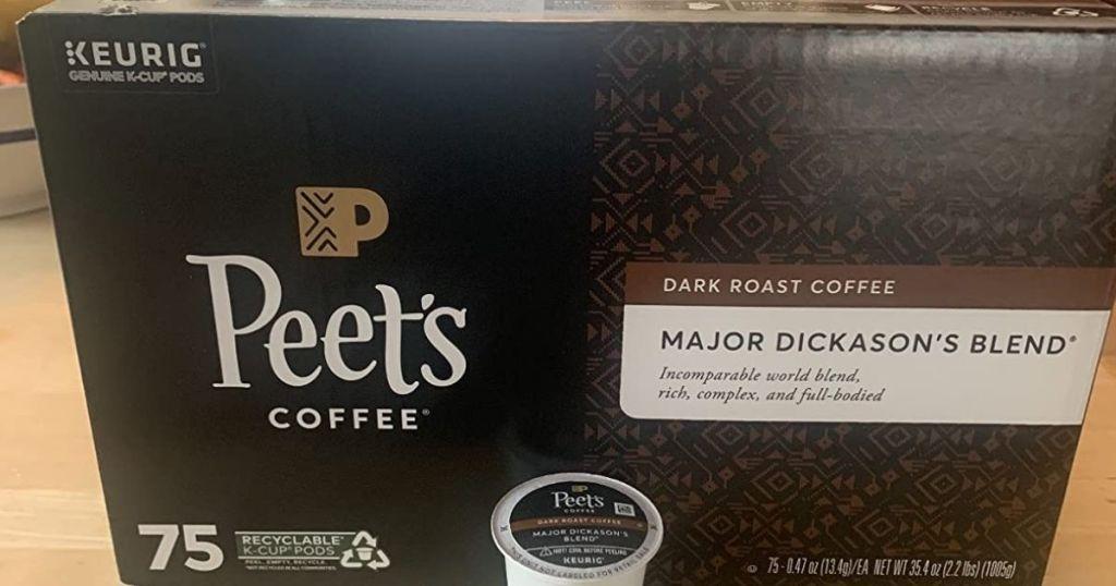 box of Peet's Coffee Major Dickason's Blend