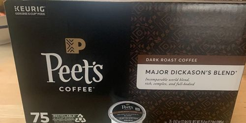 Peet's Coffee Major Dickason's Blend K-Cups 75-Count Only $23.49 Shipped on Amazon