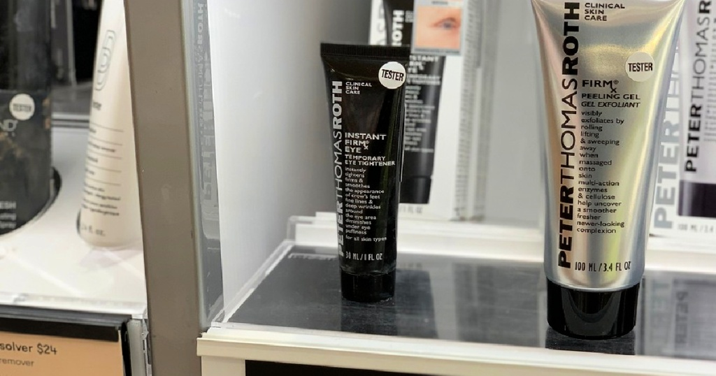 Peter Thomas Roth Instant FIRMx Temporary Eye Tightener on display at ulta