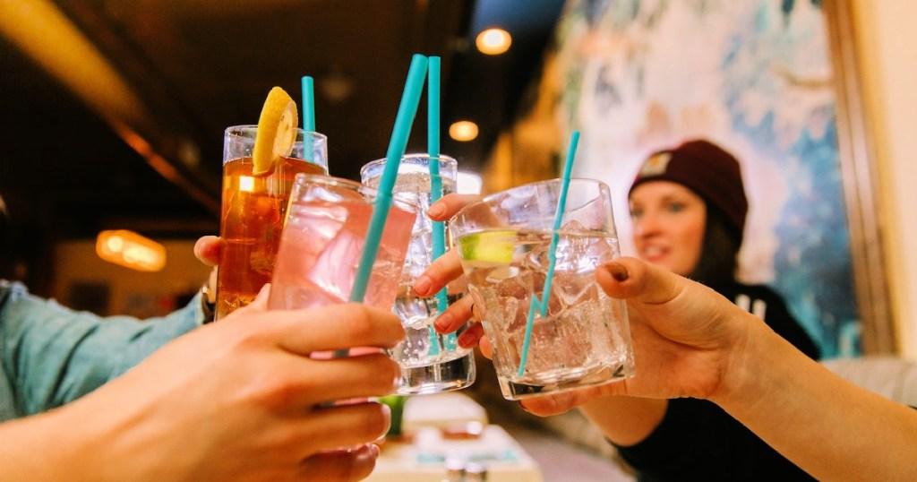 Phade Marine Biodegradable Straws in cups