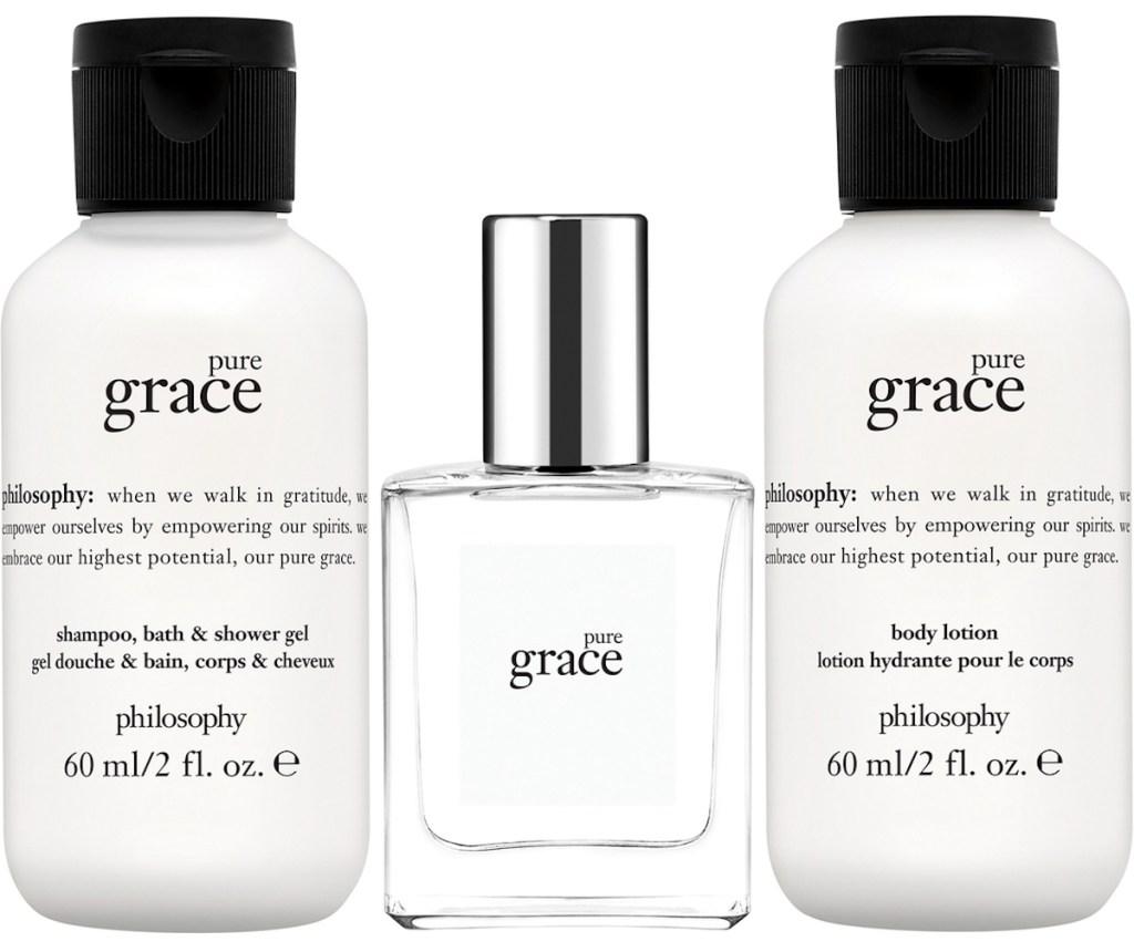 Philosophy Mini Pure Grace mini shower gel, eau de toilette, & body lotion gift set