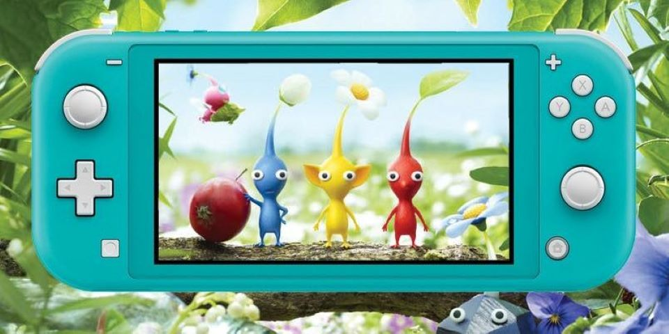 Pikmin game on a Nintendo Switch
