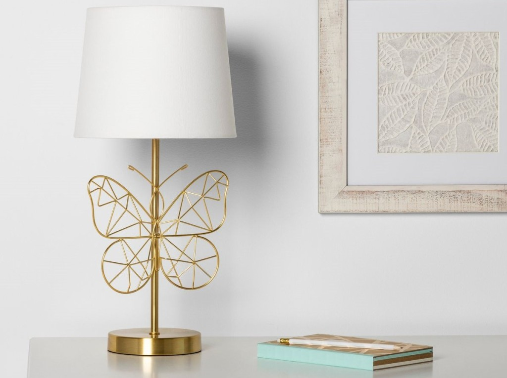 lamp with a butterfly base