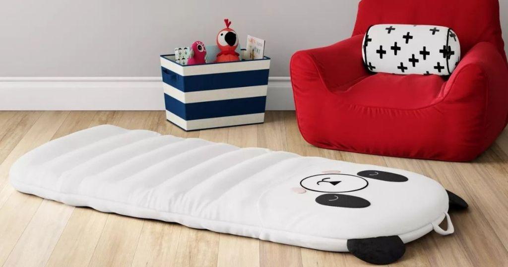 panda themed pad on the floor