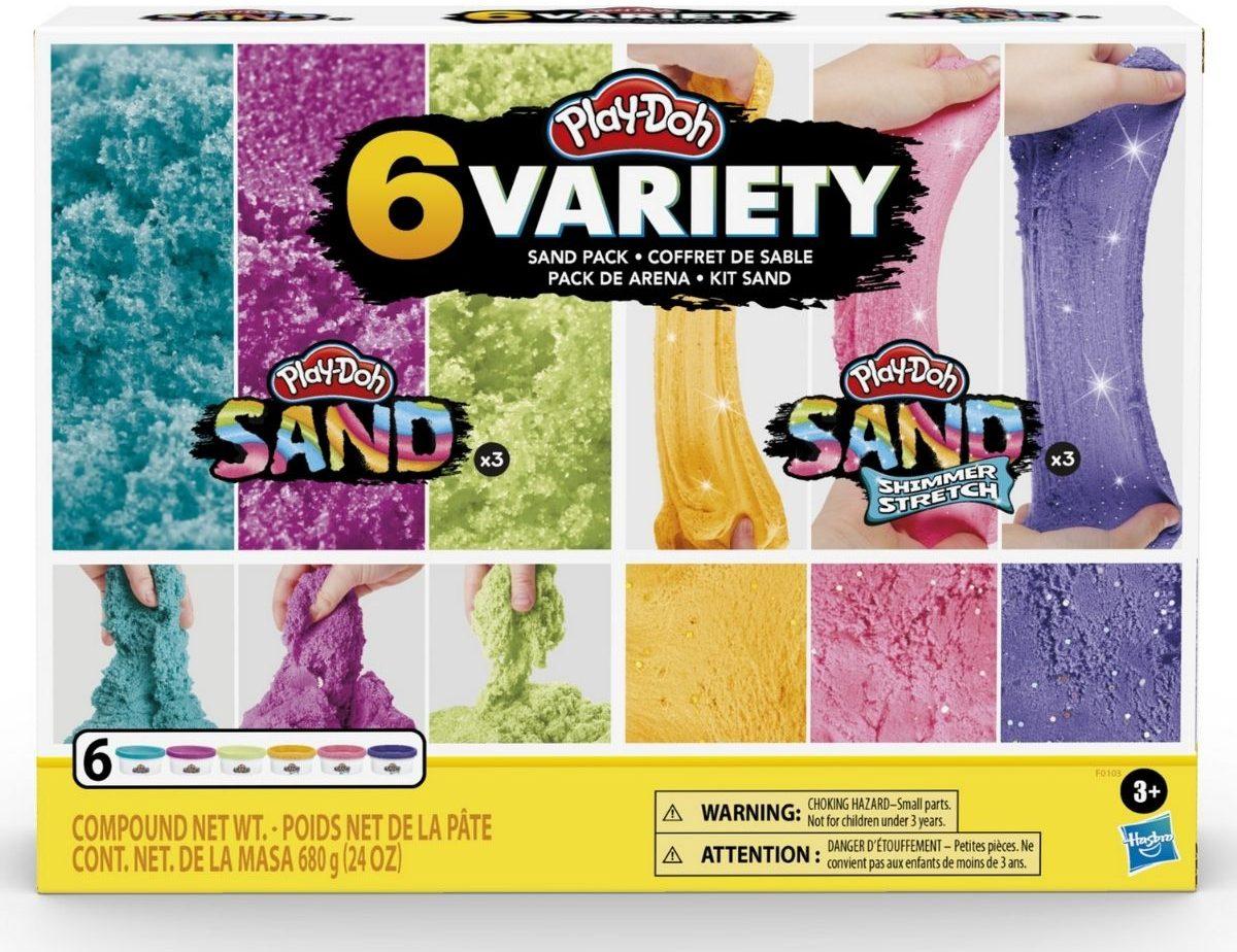 Play-Doh Variety Pack of Sandin packaging